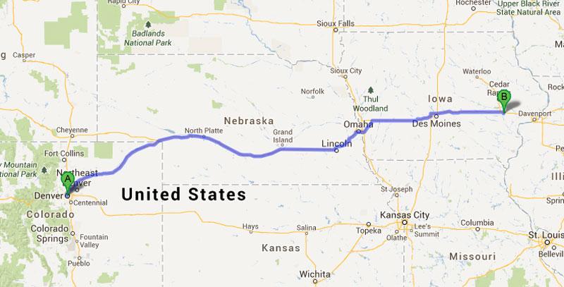 Motoring Across America Travel Blog - Us map i 80